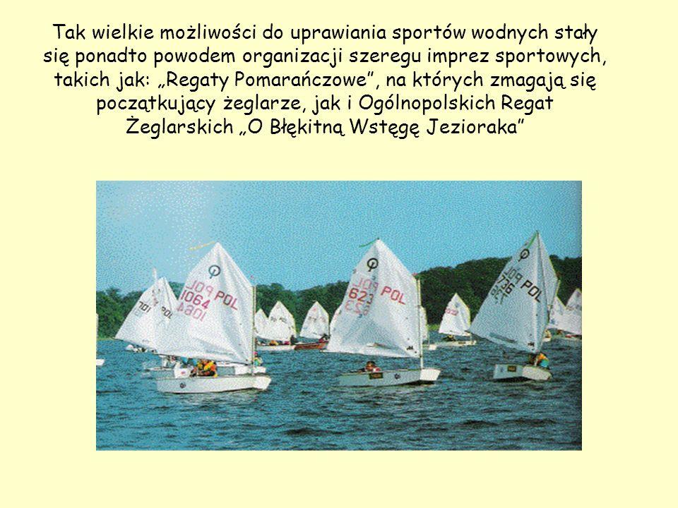 Tak wielkie możliwości do uprawiania sportów wodnych stały się ponadto powodem organizacji szeregu imprez sportowych, takich jak: Regaty Pomarańczowe,
