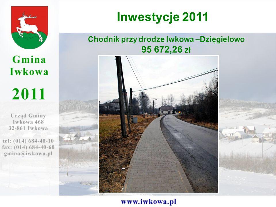 Chodnik przy drodze Iwkowa –Dzięgielowo 95 672,26 zł Inwestycje 2011