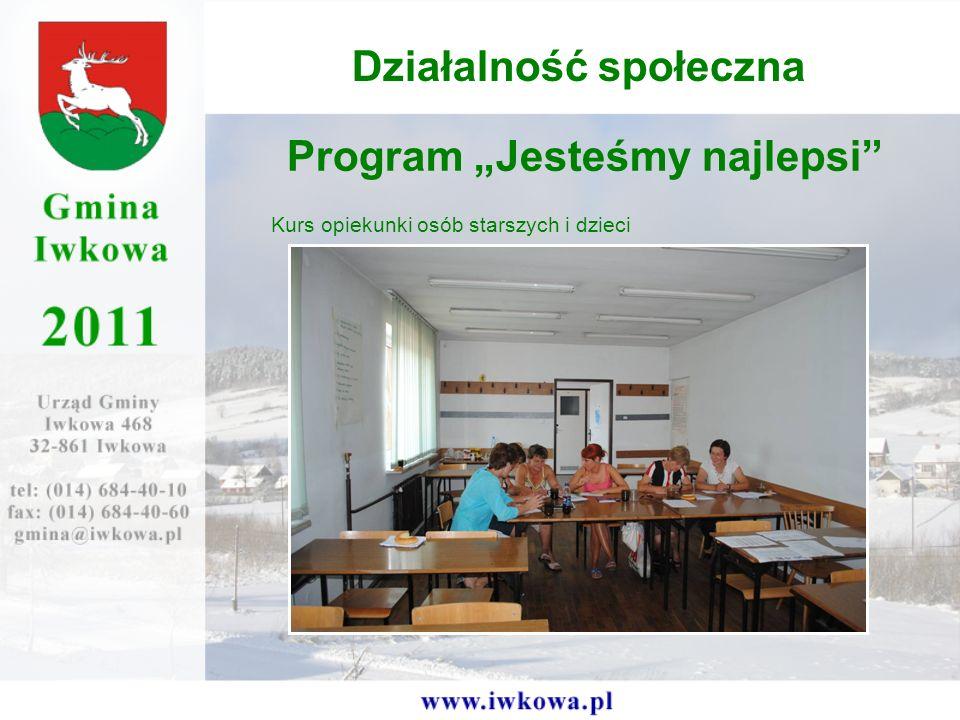 Program Jesteśmy najlepsi Kurs opiekunki osób starszych i dzieci Działalność społeczna
