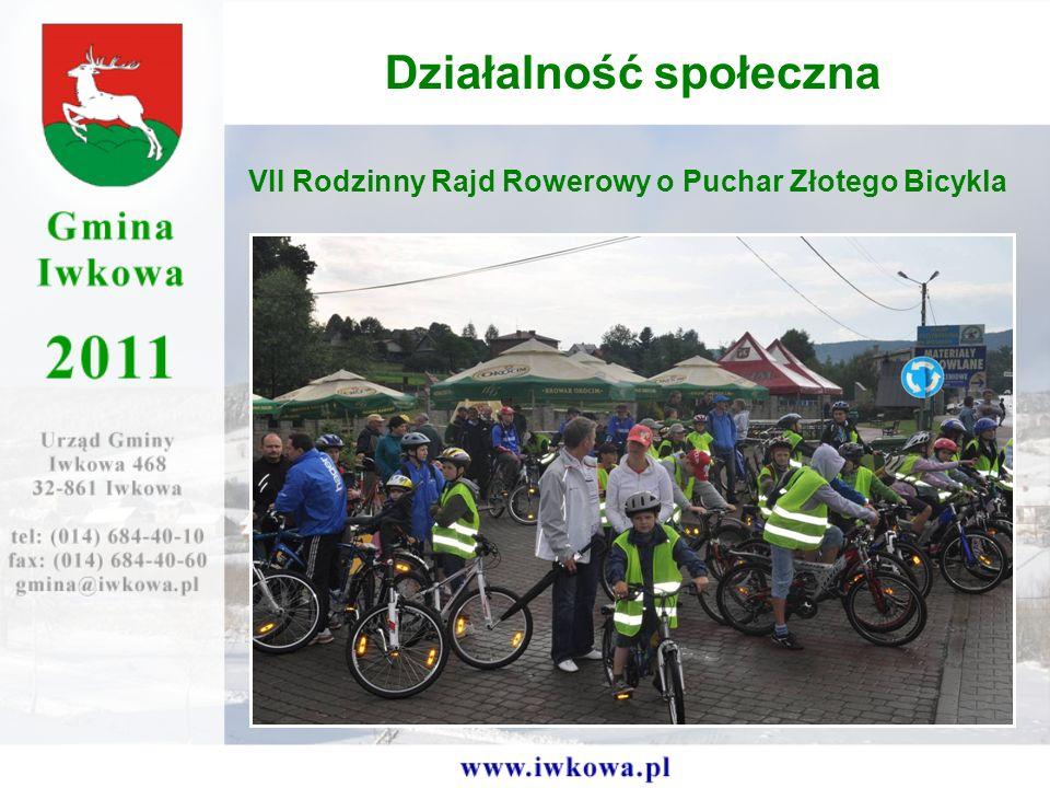 VII Rodzinny Rajd Rowerowy o Puchar Złotego Bicykla Działalność społeczna