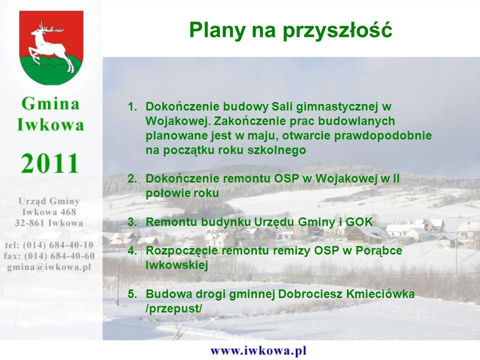 1.Dokończenie budowy Sali gimnastycznej w Wojakowej.