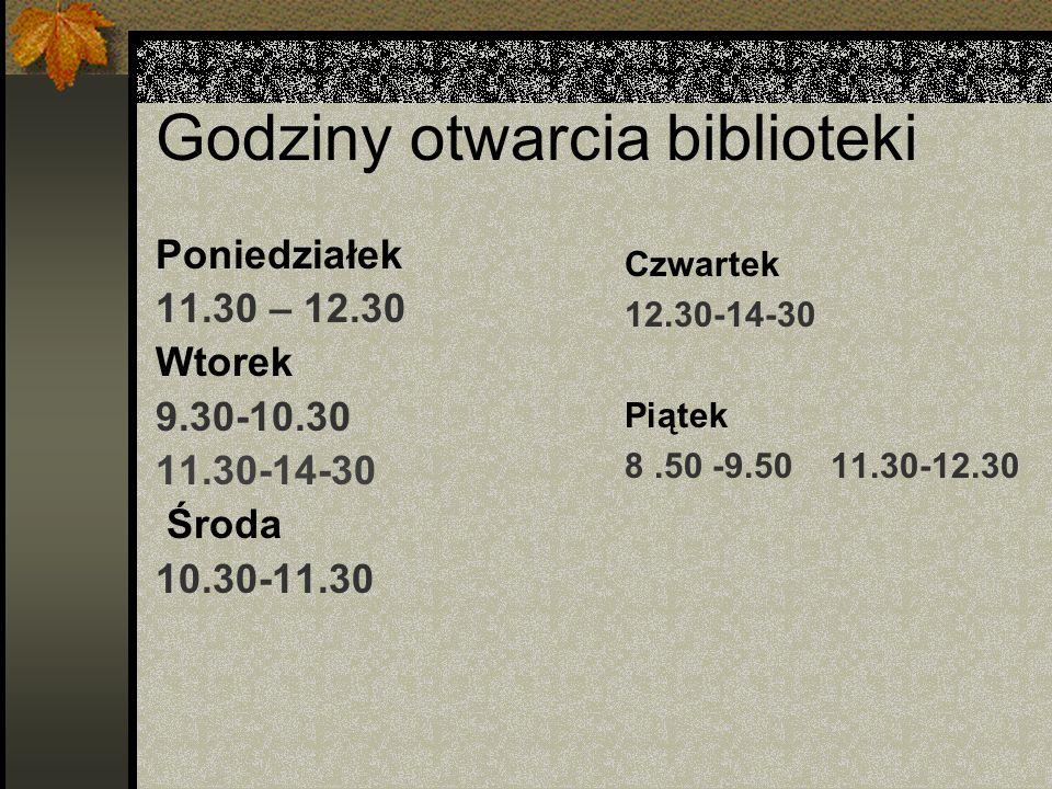 Pracownicy biblioteki: pani Beata Rudnicka
