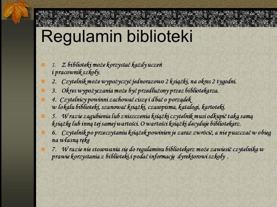 Podział literatury Bw – bajeczki, wierszyki B – baśnie L – lektury