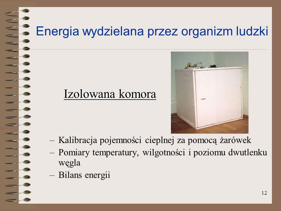 13 Kalibracja pojemności cieplnej komory