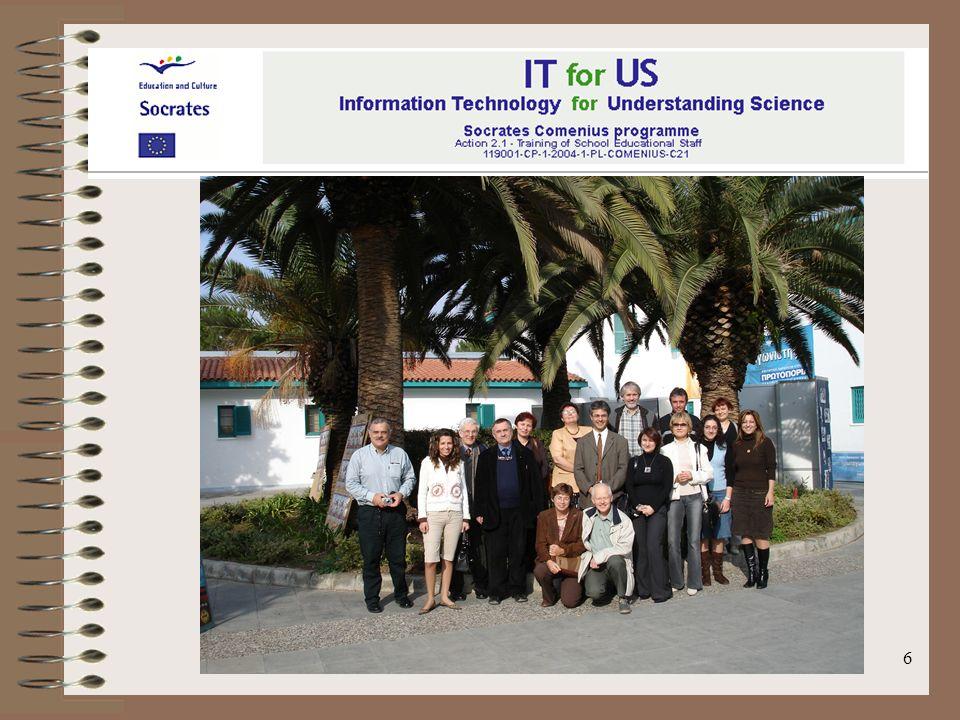 7 Głównym celem projektu jest opracowanie międzynarodowego kursu TI w nauczaniu przedmiotów przyrodniczych