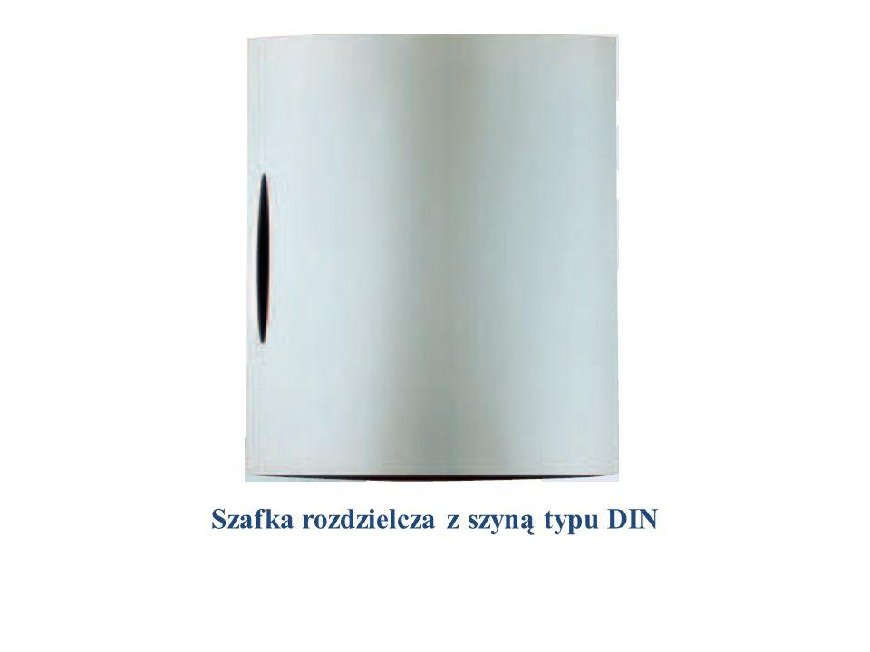 Przykład zabudowy szafki typu DIN