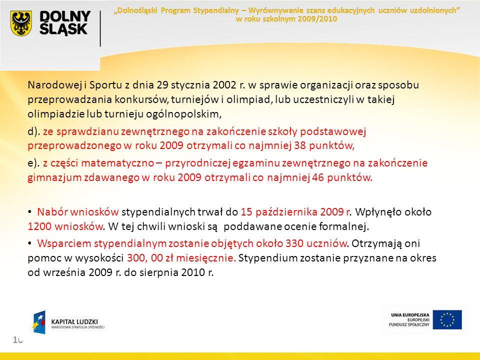 10 Narodowej i Sportu z dnia 29 stycznia 2002 r.