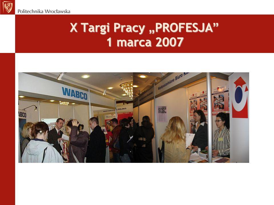 X Targi Pracy PROFESJA 1 marca 2007
