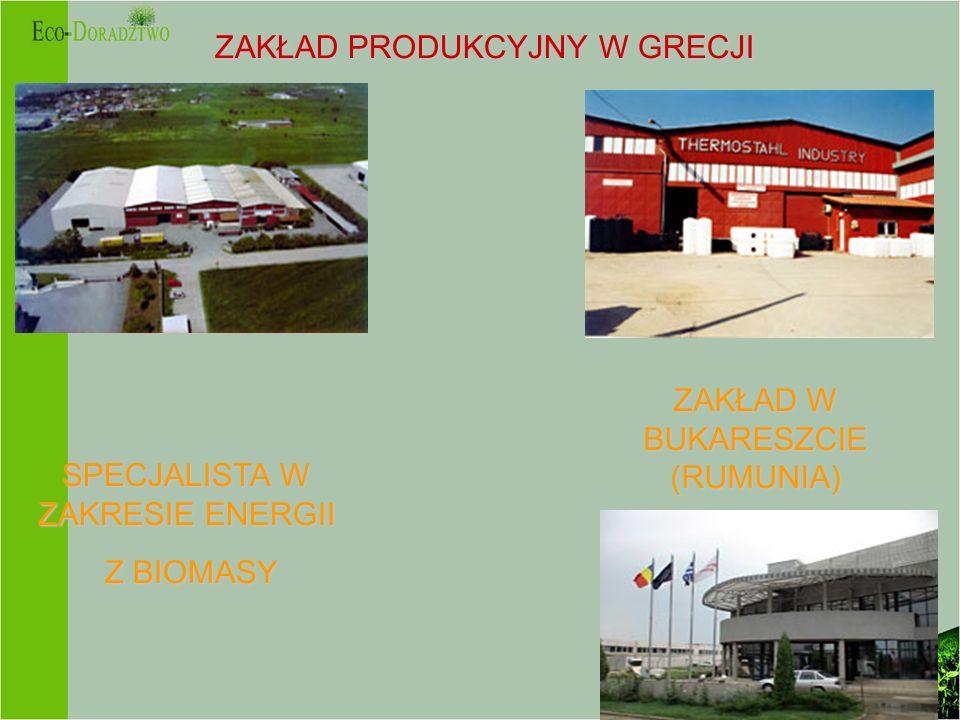 ZAKŁAD PRODUKCYJNY W GRECJI SPECJALISTA W ZAKRESIE ENERGII Z BIOMASY Z BIOMASY ZAKŁAD W BUKARESZCIE (RUMUNIA)
