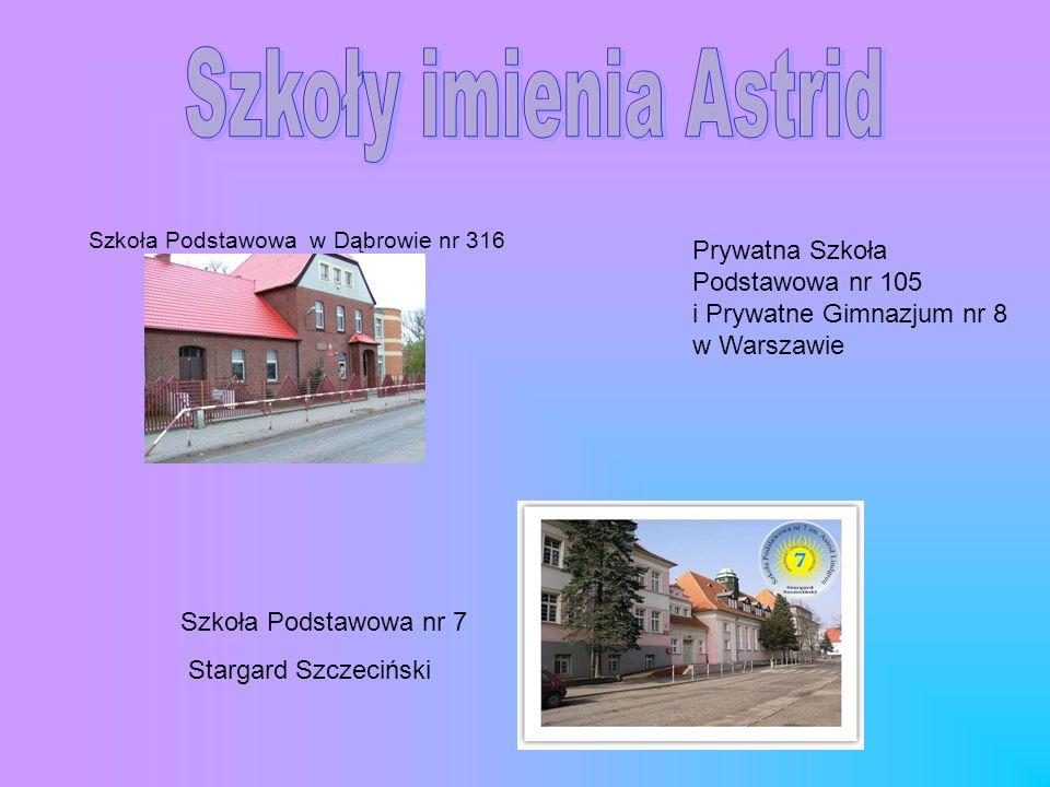 Szkoła Podstawowa w Dąbrowie nr 316 Prywatna Szkoła Podstawowa nr 105 i Prywatne Gimnazjum nr 8 w Warszawie Szkoła Podstawowa nr 7 Stargard Szczecińsk