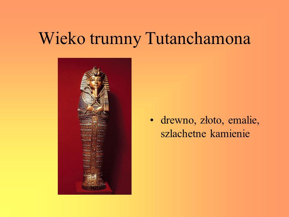Wieko trumny Tutanchamona drewno, złoto, emalie, szlachetne kamienie