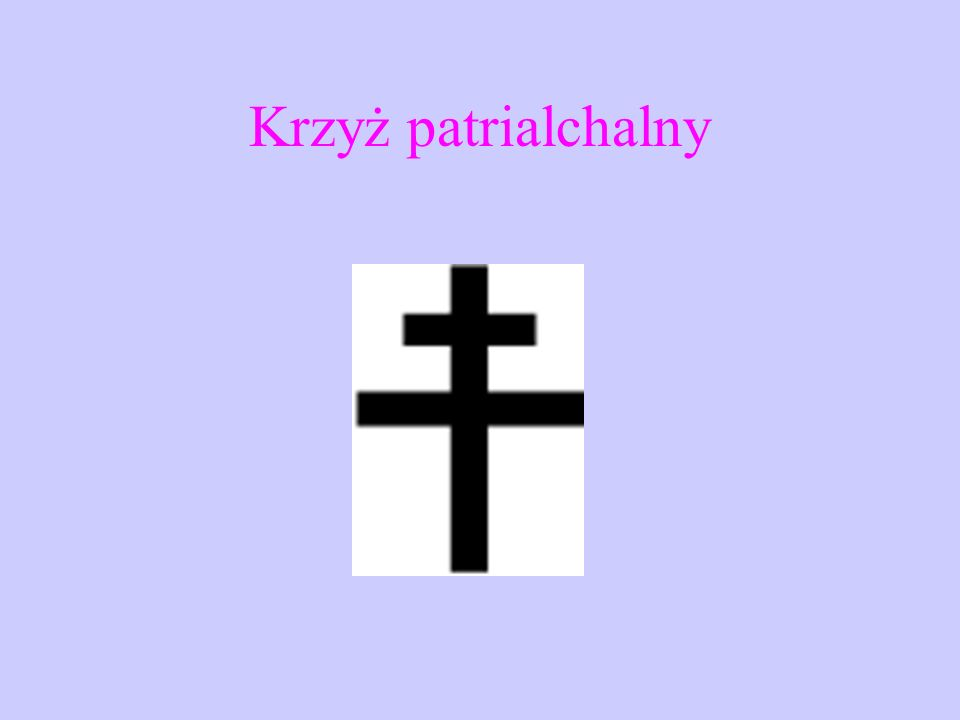 Krzyż ruski to wersja krzyża prawosławnego o dwóch ramionach.