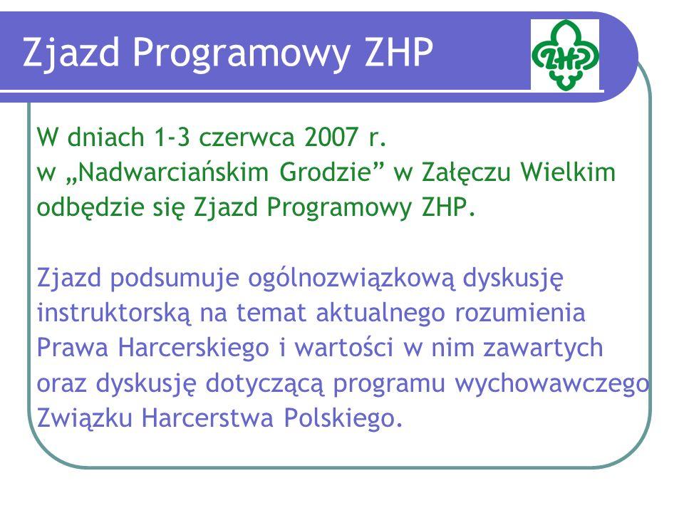 Zjazd Programowy ZHP Dyskusja przed Zjazdem Programowym toczy się w trzech kierunkach: 1.