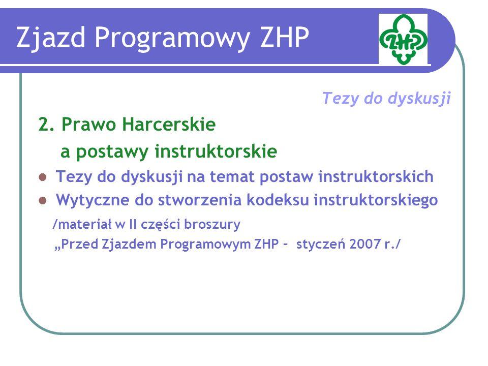 Zjazd Programowy ZHP Tezy do dyskusji 3.Jaki program ZHP.