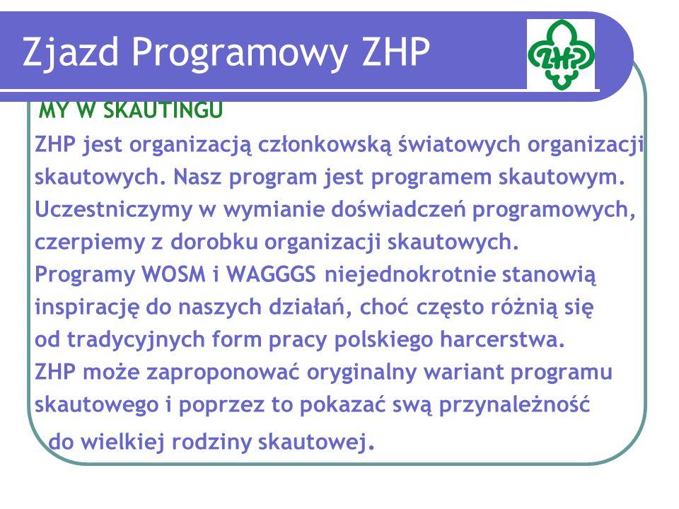 Zjazd Programowy ZHP MY W SKAUTINGU ZHP jest organizacją członkowską światowych organizacji skautowych.