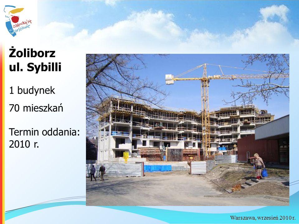 Warszawa, wrzesień 2010 r. Żoliborz ul. Sybilli 1 budynek 70 mieszkań Termin oddania: 2010 r.