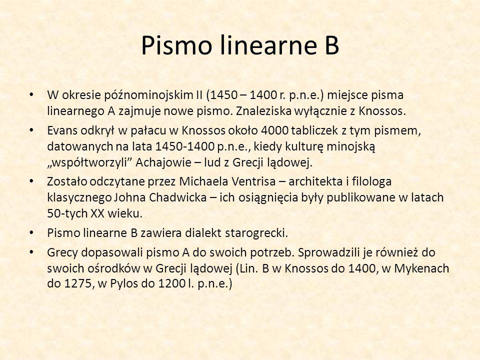 Pismo linearne B W okresie późnominojskim II (1450 – 1400 r.