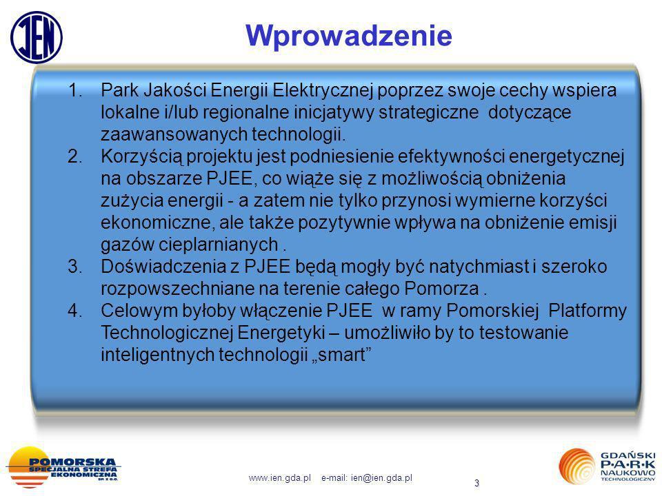 www.ien.gda.pl e-mail: ien@ien.gda.pl 3 Wprowadzenie 1.Park Jakości Energii Elektrycznej poprzez swoje cechy wspiera lokalne i/lub regionalne inicjaty