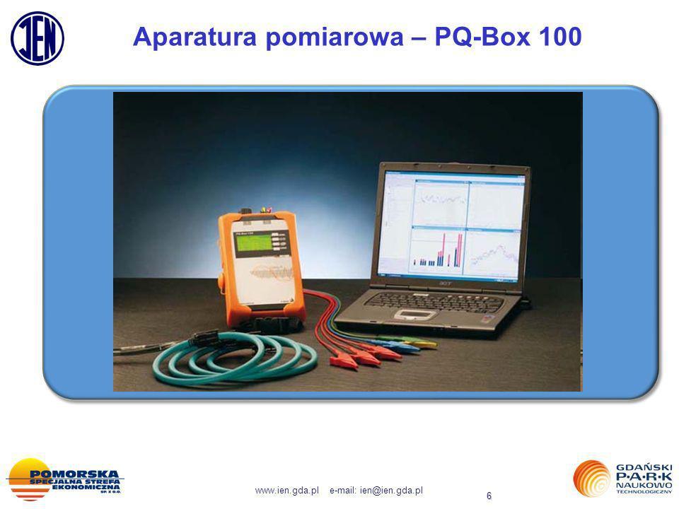 www.ien.gda.pl e-mail: ien@ien.gda.pl 17 Bieżący monitoring jakości energii elektrycznej w PWP GPNT.