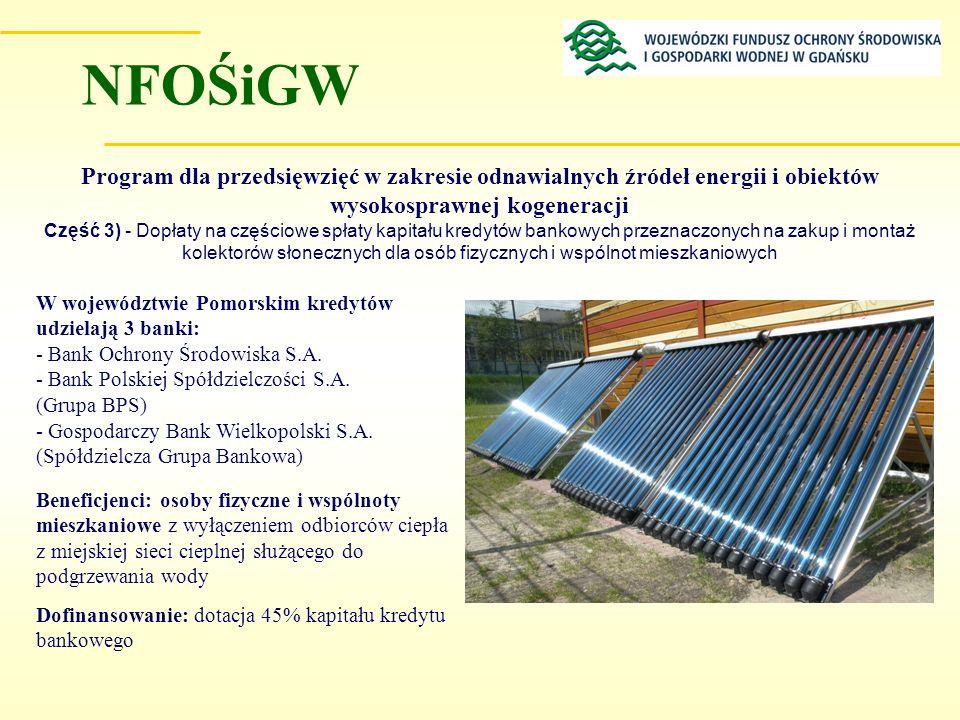 Program dla przedsięwzięć w zakresie odnawialnych źródeł energii i obiektów wysokosprawnej kogeneracji Część 3) - Dopłaty na częściowe spłaty kapitału