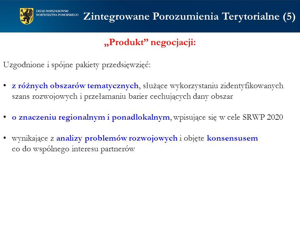 Produkt negocjacji: Uzgodnione i spójne pakiety przedsięwzięć: z różnych obszarów tematycznych, służące wykorzystaniu zidentyfikowanych szans rozwojow