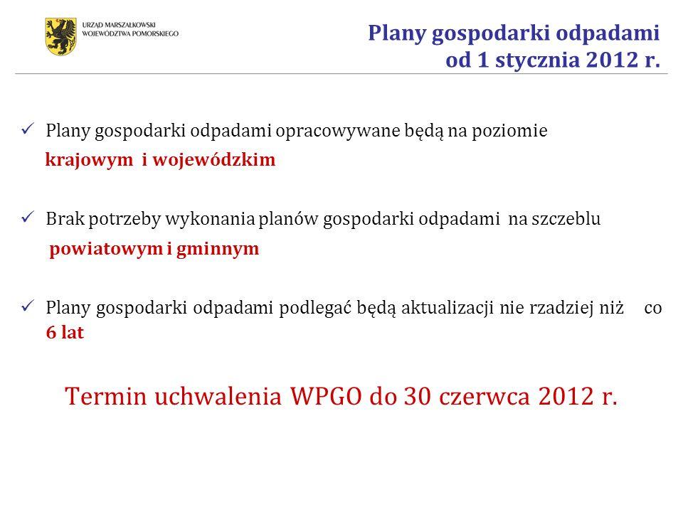 Plany gospodarki odpadami od 1 stycznia 2012 r.