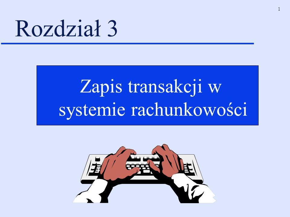 1 Rozdział 3 Zapis transakcji w systemie rachunkowości
