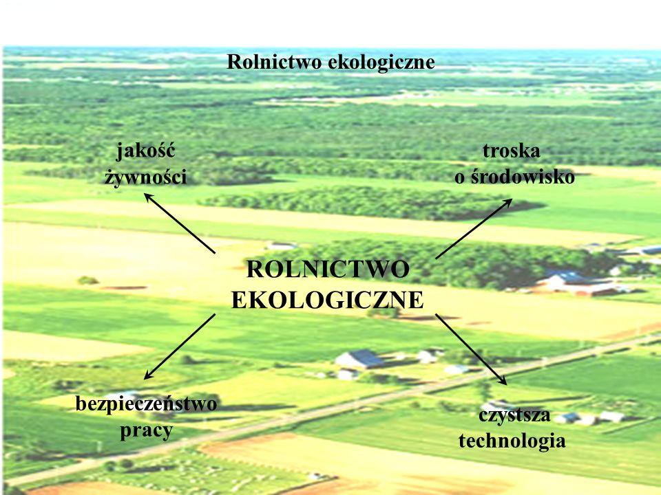 Rolnictwo ekologiczne jakość żywności troska o środowisko bezpieczeństwo pracy czystsza technologia ROLNICTWO EKOLOGICZNE