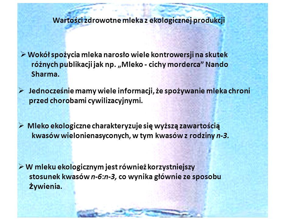 Wartości zdrowotne mleka z ekologicznej produkcji Jednocześnie mamy wiele informacji, że spożywanie mleka chroni przed chorobami cywilizacyjnymi. Wokó