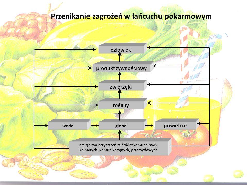 Wybrane związki toksyczne w żywności metale ciężkie azotany (V) i (III) pozostałości pestycydów substancje hamujące (środki myjące) antybiotyki i inne farmaceutyki