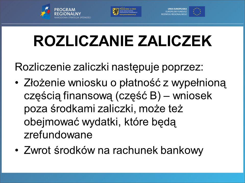 Zgodnie z Rozporządzeniem Ministra Finansów z dnia 28 grudnia 2011 roku zmieniającego rozporządzenie w sprawie szczegółowego sposobu wykonywania budżetu państwa: (…) Odsetki od: 1)przekazanych w formie zaliczki środków zgromadzonych przez beneficjenta na wyodrębnionym rachunku do obsługi projektu finansowanego z udziałem środków europejskich 2) zwrotów środków wykorzystanych niezgodnie z przeznaczeniem, wykorzystanych z naruszeniem procedur właściwych do realizacji wydatków w ramach danego programu lub projektu, pobranych nienależnie lub w nadmiernej wysokości 3) środków pozostałych do rozliczenia przekazanych w ramach zaliczki są przekazywane przez Beneficjenta na rachunek instytucji, z którą zawarł umowę CZYLI INSTYTUCJI ZARZĄDZAJĄCEJ RPO WP
