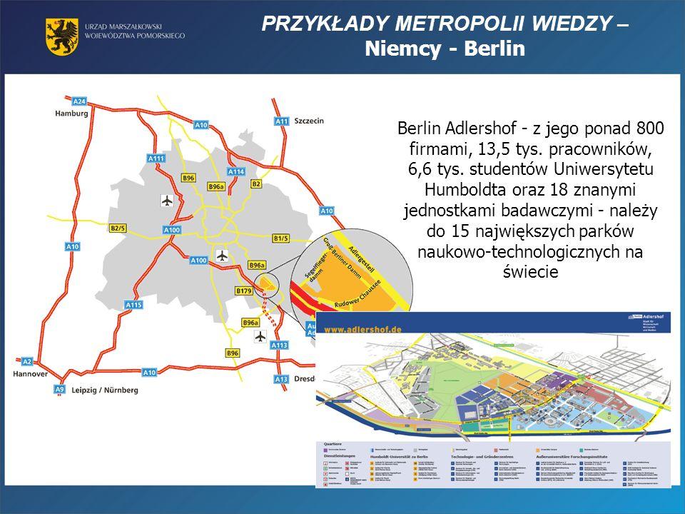 Berlin Adlershof - z jego ponad 800 firmami, 13,5 tys. pracowników, 6,6 tys. studentów Uniwersytetu Humboldta oraz 18 znanymi jednostkami badawczymi -