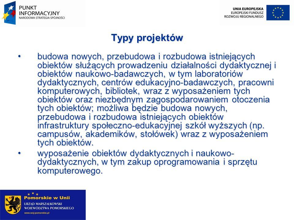 Poziom dofinansowania projektu Minimalna wartość projektu wynosi 2 000 000 PLN Minimalna wartość projektu wynosi 2 000 000 PLN Maksymalny poziom dofinansowania projektów z Europejskiego Funduszu Rozwoju Regionalnego w ramach konkursu nr 2.1._3 wynosi do 75 % wydatków kwalifikowanych.