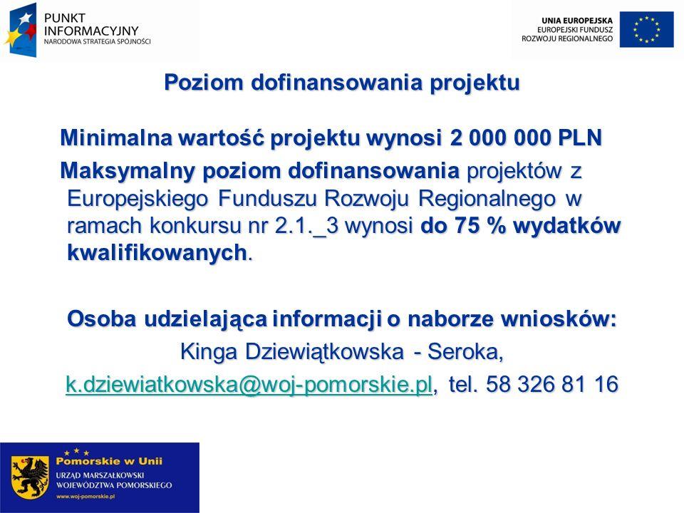 Działanie 2.2 Infrastruktura i usługi tworzące podstawy społeczeństwa informacyjnego Poddziałanie 2.2.1.