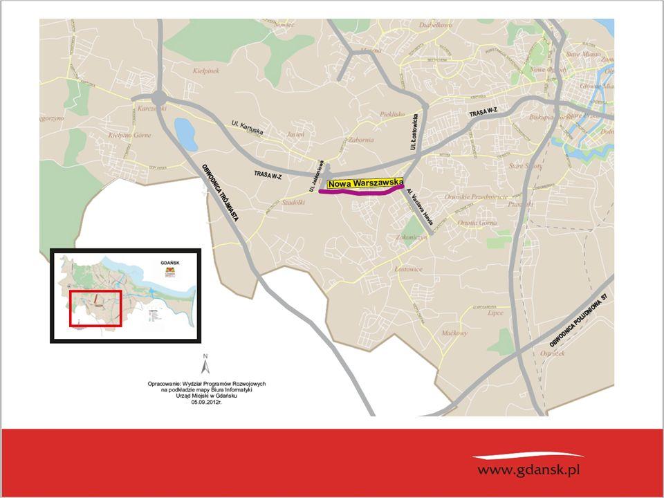 Planowana linia tramwajowa od ul.Bulońskiej do ul.