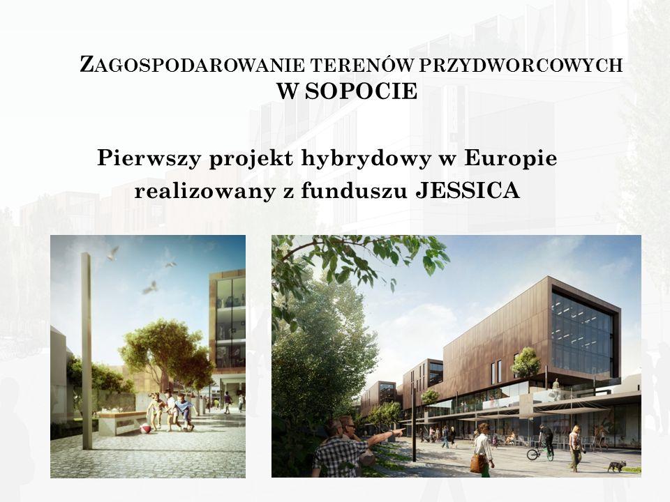 Z AGOSPODAROWANIE TERENÓW PRZYDWORCOWYCH W SOPOCIE Pierwszy projekt hybrydowy w Europie realizowany z funduszu JESSICA