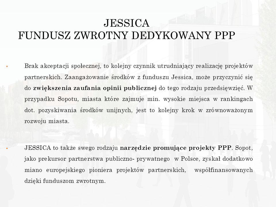 JESSICA FUNDUSZ ZWROTNY DEDYKOWANY PPP Brak akceptacji społecznej, to kolejny czynnik utrudniający realizację projektów partnerskich. Zaangażowanie śr