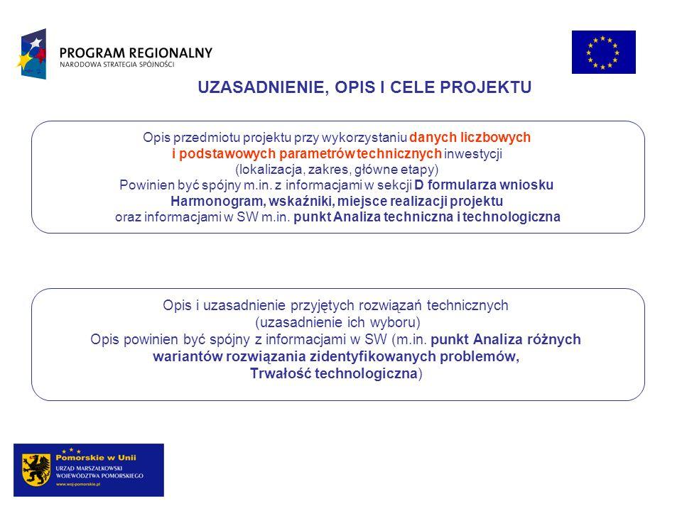 Opis przedmiotu projektu przy wykorzystaniu danych liczbowych i podstawowych parametrów technicznych inwestycji (lokalizacja, zakres, główne etapy) Po