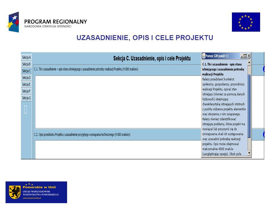 Opis przedmiotu projektu przy wykorzystaniu danych liczbowych i podstawowych parametrów technicznych inwestycji (lokalizacja, zakres, główne etapy) Powinien być spójny m.in.