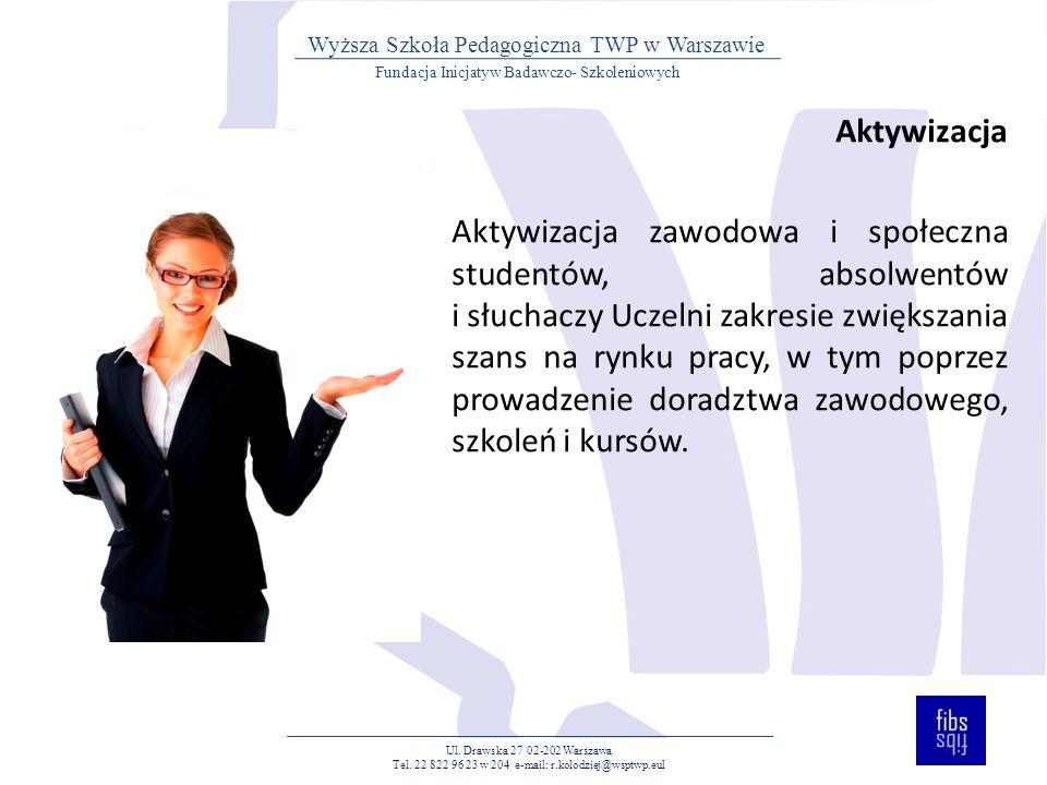 WIĘCEJ INFORMACJI Fundacja Inicjatyw Badawczo- Szkoleniowych WSP TWP w Warszawie www.fibs.org.pl Ul.