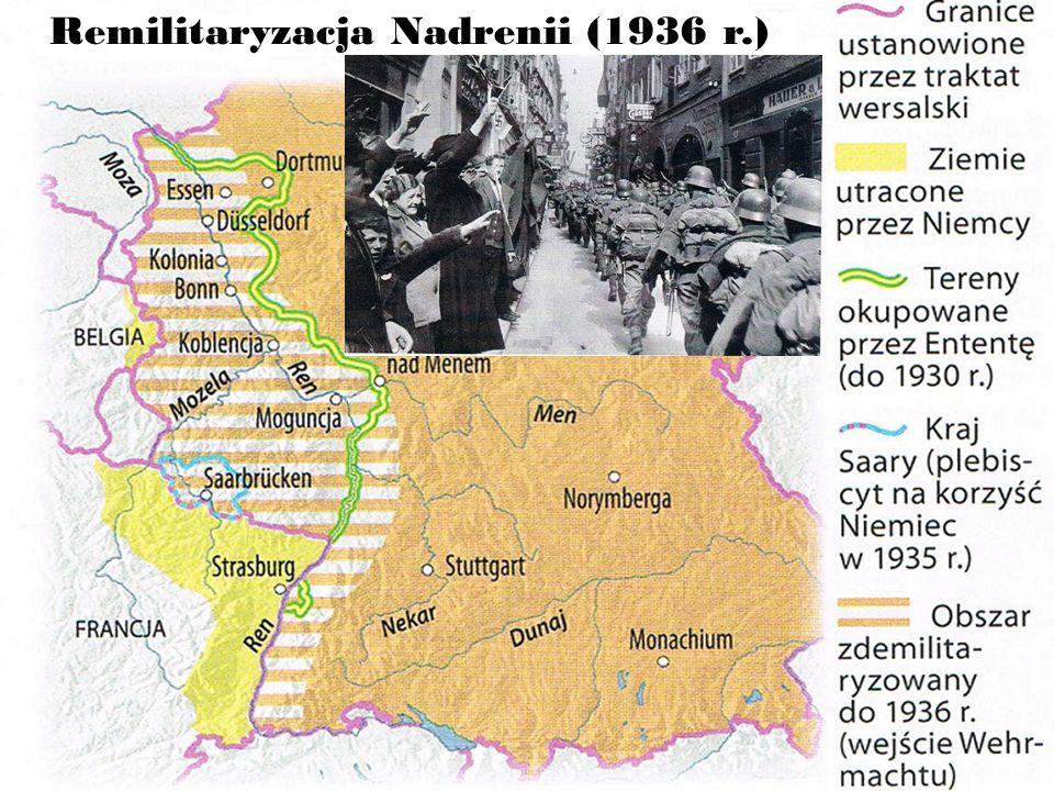 1938 rok - Anszlus Austrii - Układ monachijski Nie możemy w żaden sposób postępować tak, żeby wciągnąć całe Imperium Brytyjskie do wojny tylko z powodu tego narodu, ludzi o których nic nie wiemy… (Arthur Neville Chamberlain premier Wielkiej Brytanii o kryzysie czechosłowackim) Mieli do wyboru wojnę, albo hańbę.