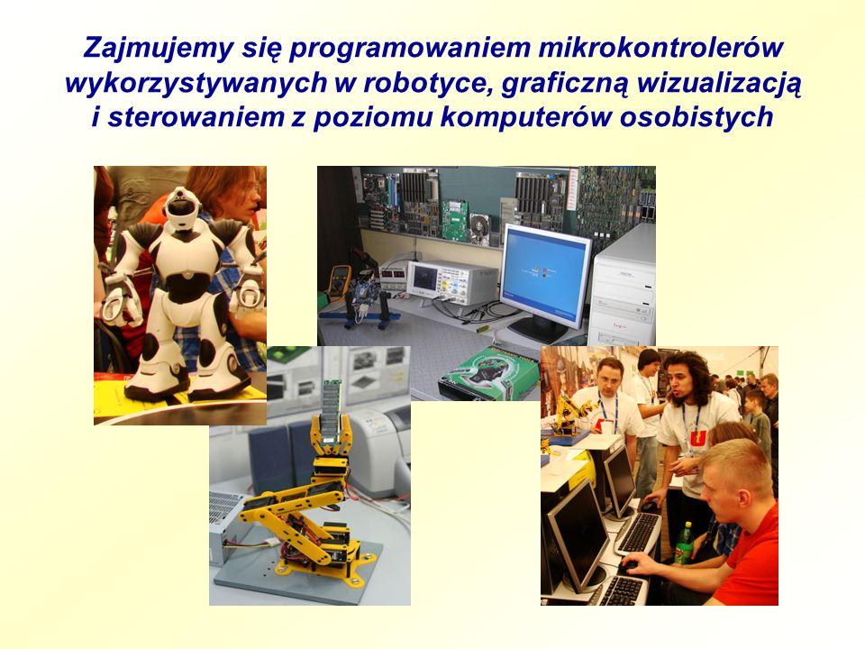 Zajmujemy się programowaniem mikrokontrolerów wykorzystywanych w robotyce, graficzną wizualizacją i sterowaniem z poziomu komputerów osobistych