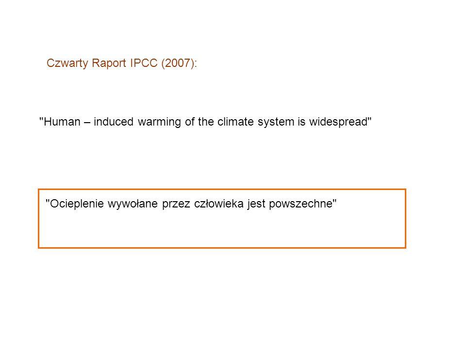 Czwarty Raport IPCC (2007):