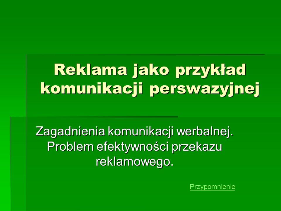 Przekaz reklamowy wiadomości wstępne cz.