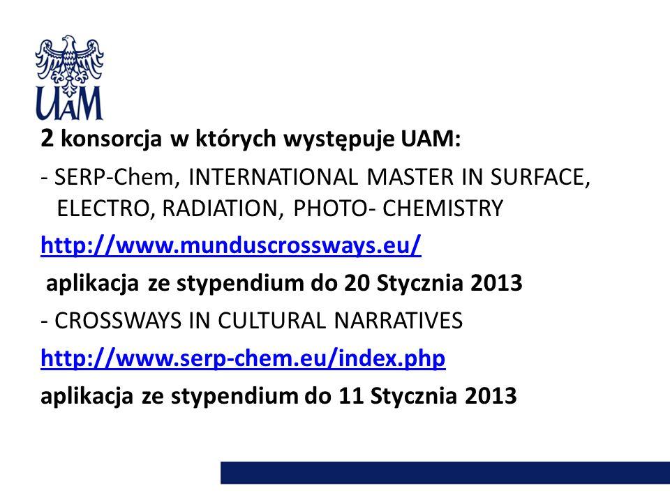EUROEAST PoziomLiczba stypendiów BA22 MA15 PHD16 POST-DOC8 STAFF8 Strona internetowa: http://www.euroeast.polito.it/ Deadline :
