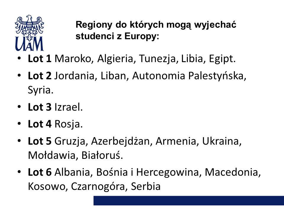 LOT 1 Maroko, Algieria, Tunezja, Libia, Egipt.