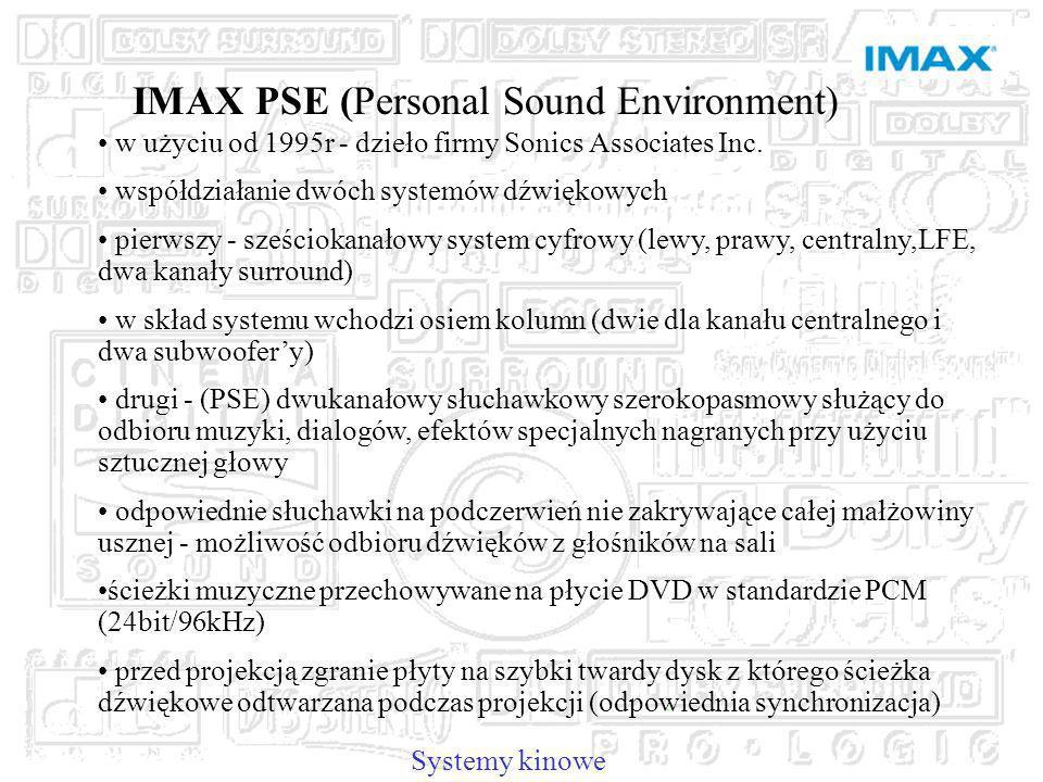 IMAX PSE (Personal Sound Environment) w użyciu od 1995r - dzieło firmy Sonics Associates Inc.