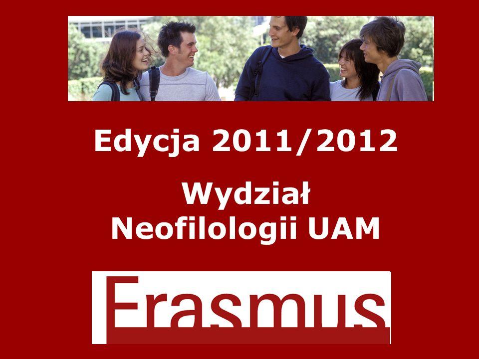 Edycja 2011/2012 Wydział Neofilologii UAM