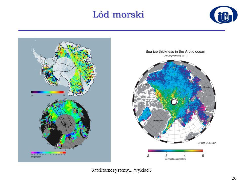 Lód morski 20 Satelitarne systemy..., wykład 8