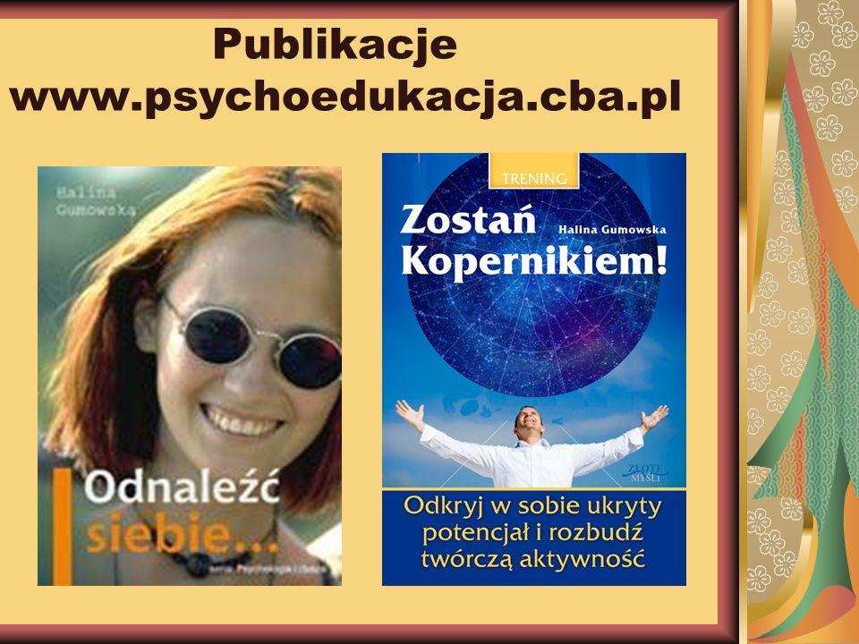 Publikacje www.psychoedukacja.cba.pl